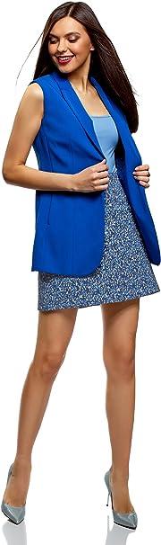 oodji Ultra Mujer Falda Trapecio con Botones Decorativos