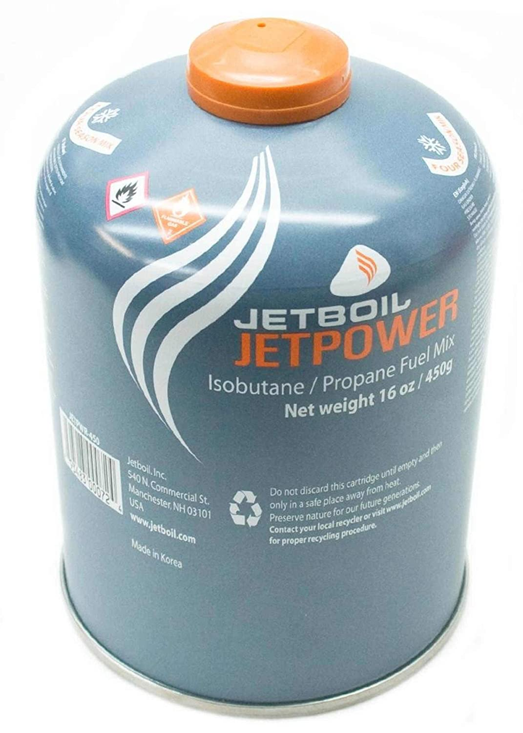Jetboil Jetpower Gas/Fuel Canister (450g)