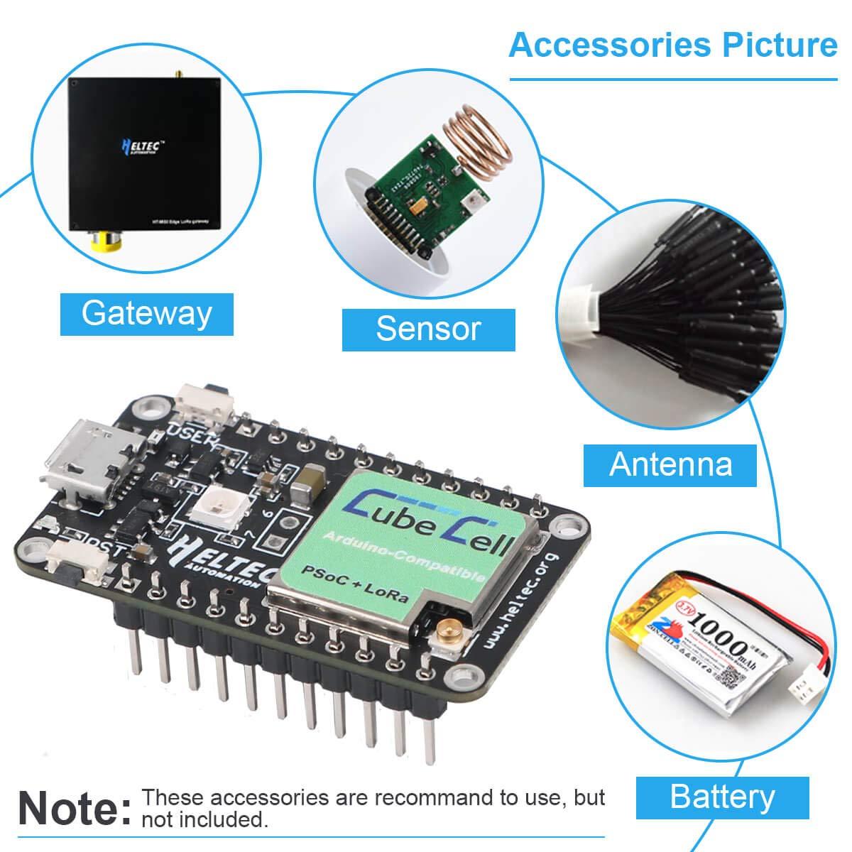SX1262 Lora Module 868 915 MHZ LoRaWAN IoT Development Board ASR6501 MCU 128KB Flash Ultra Low Power Consumption Solar Energy Powered Design with Antenna for Arduino and Intelligent Scene