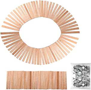 Amazon.com: Caydo 100 Pieces 5-inch Wood Candle Wicks for ...