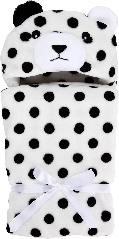 Toalla Bebé con Capucha - Mullido Albornoz para Niños (Poncho) de Microfibra (Leopardo)