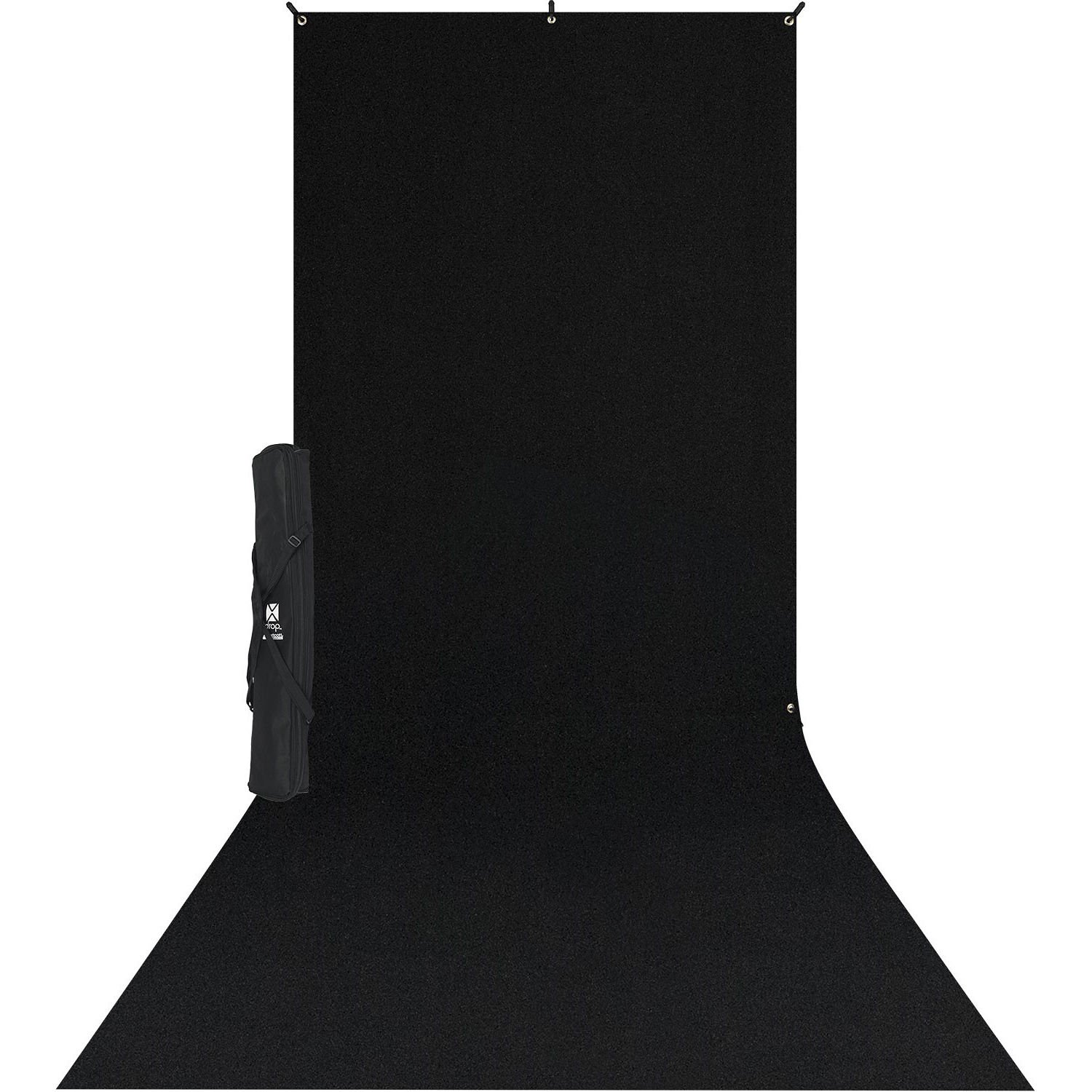 Westcott 578SK X-Drop Wrinkle-Resistant Backdrop Kit - Rich Black Sweep (5' x 12') by Westcott
