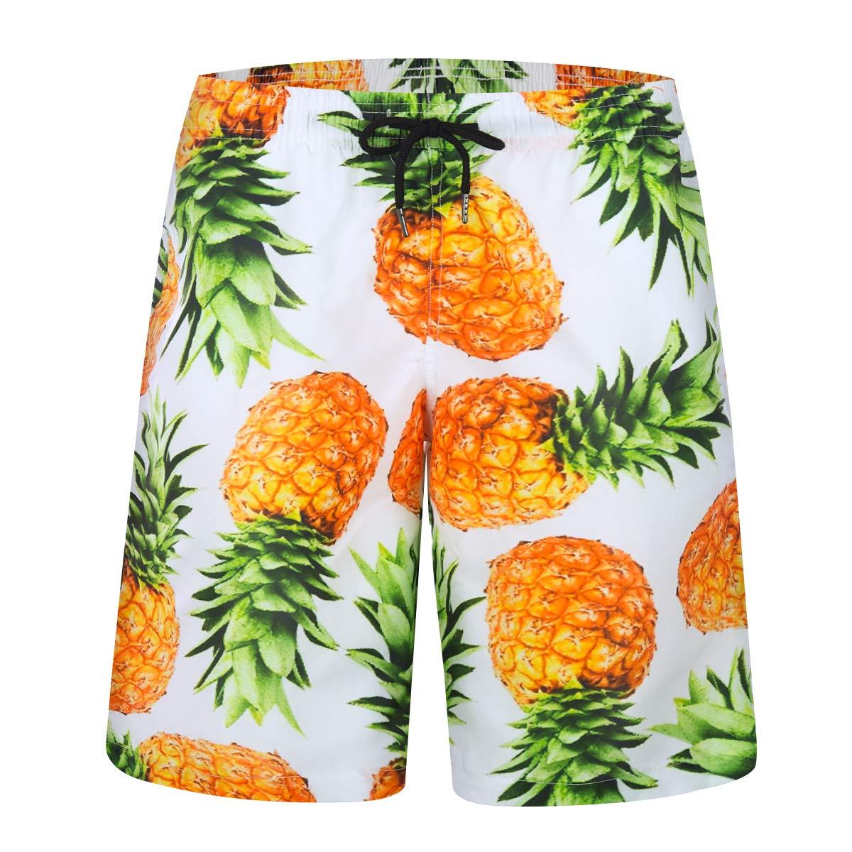 iCKER Mens Swim Trunks Quick Dry Beach Holiday Party Swim Board Shorts