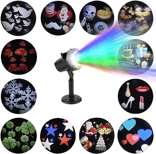 Lámpara de proyector LED con 12 modelos / portaobjetos ...