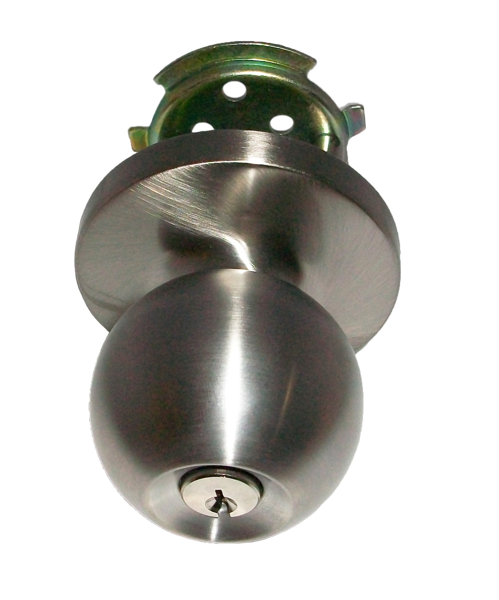 Global Door Controls ED-BKL500-US32D Trans Atlantic Entry Function Ball Knob Trim In Satin Stainless steel by Taco