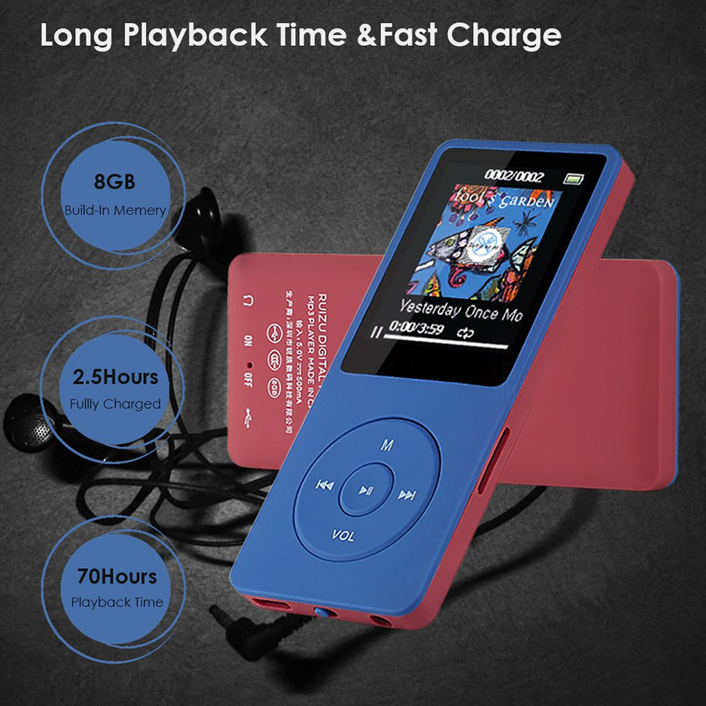 MP3 Player, FenQan HiFi Sound Portable Multi-Color MP3: Amazon.co.uk:  Electronics