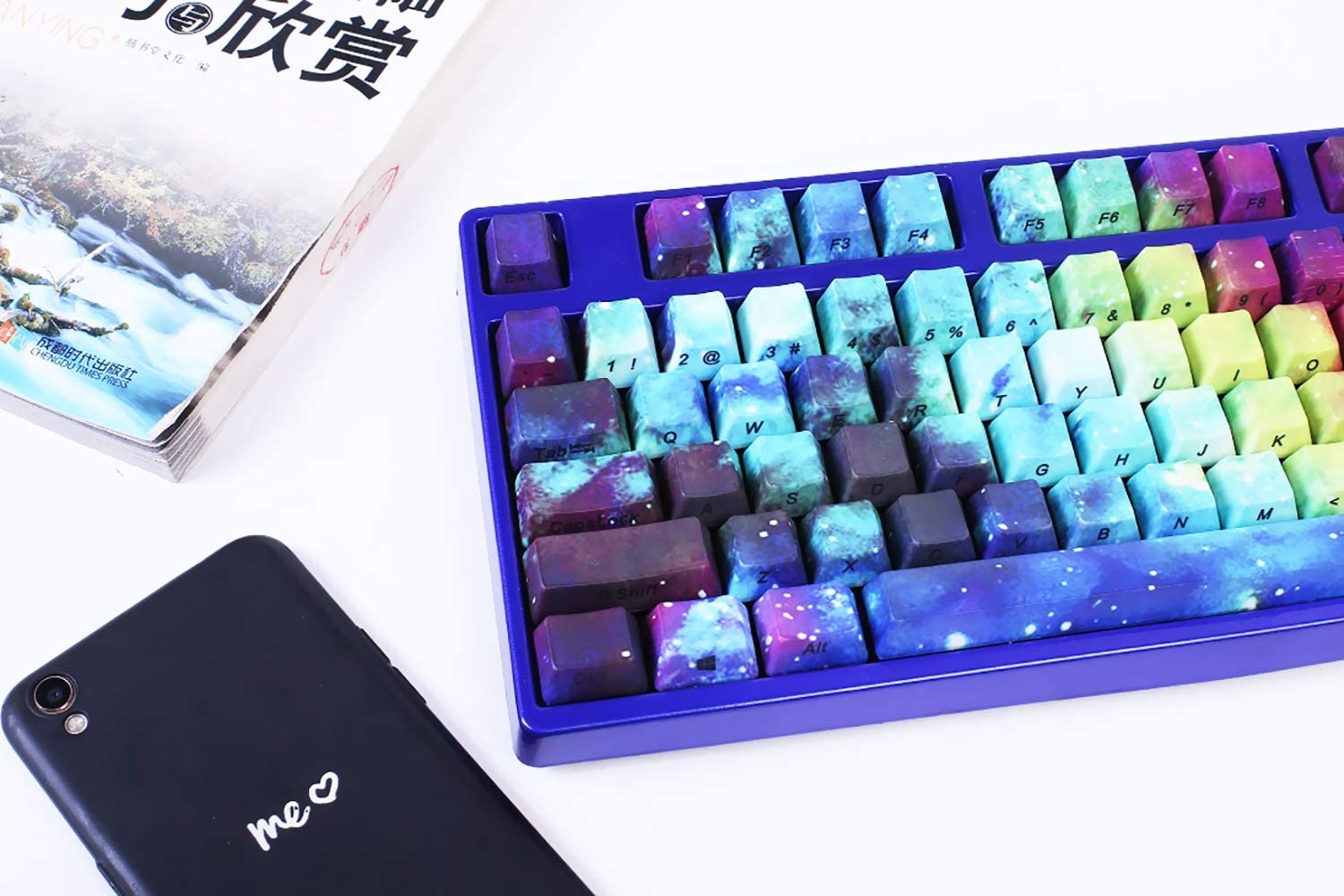 Cherry MX Switch Suitable for Mechanical Keyboard OEM Star Theme Customizable Keycaps PBT Keycaps 104-Key