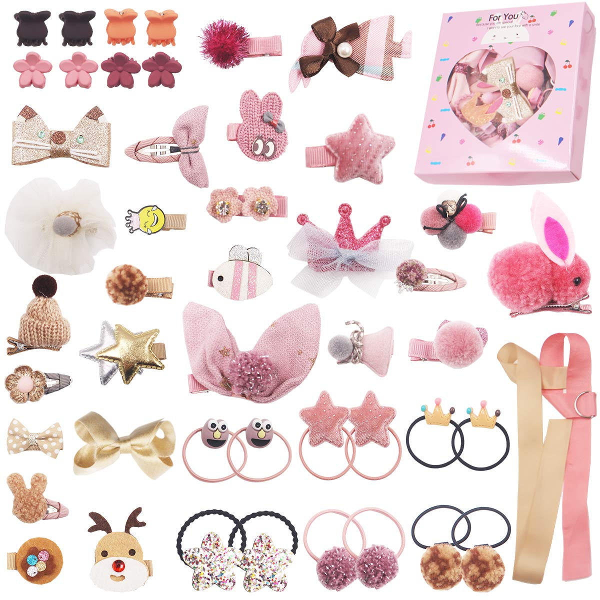 New Girls Hairpins Children Decor Pretty Bow Party Baby Gift Kids Hair Clips Lin