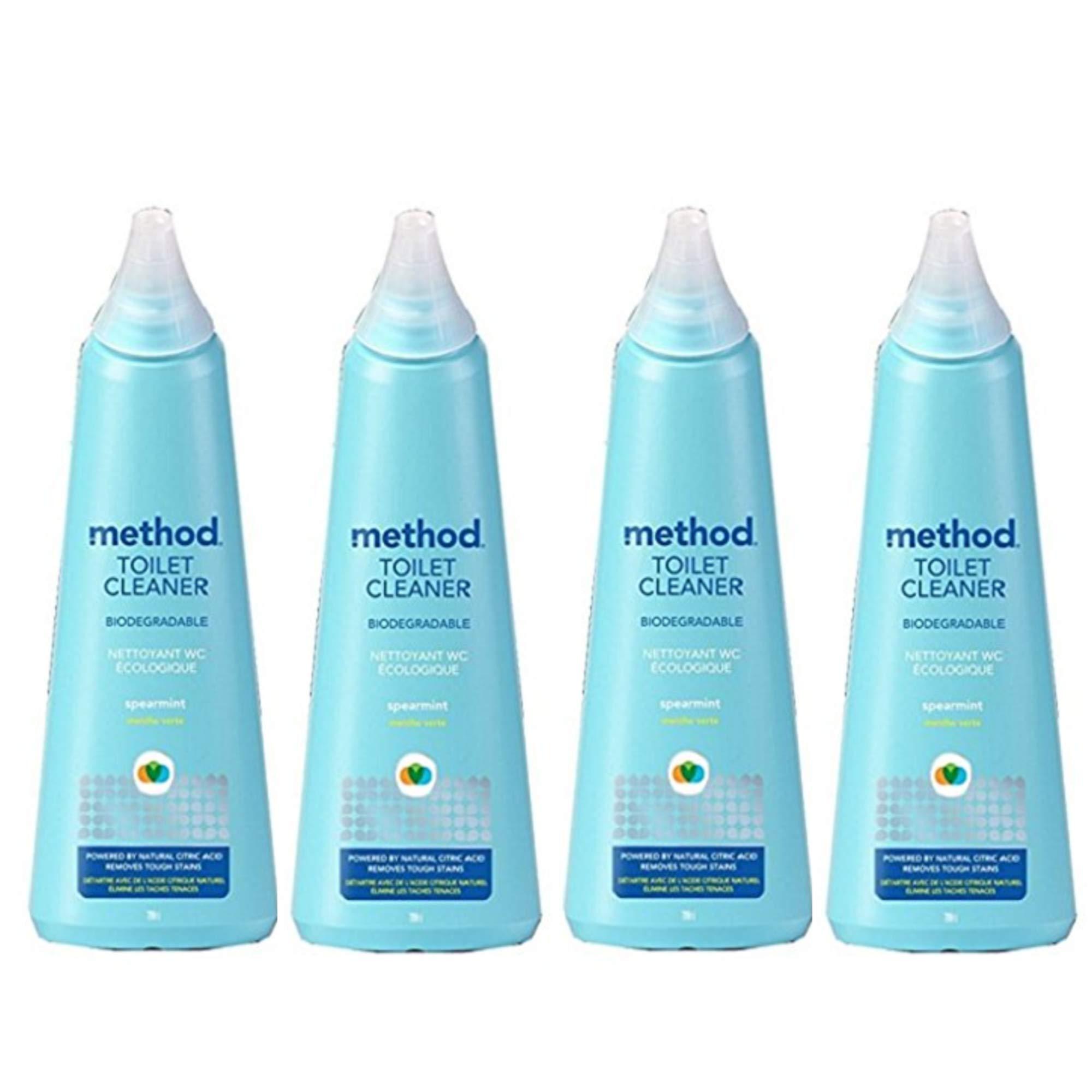Method Antibacterial Toilet Bowl Cleaner - Spearmint - 24 oz - 4 Pack by Method