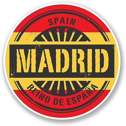 2 x Madrid España vinilo adhesivo de vinilo para portátil de viaje ...