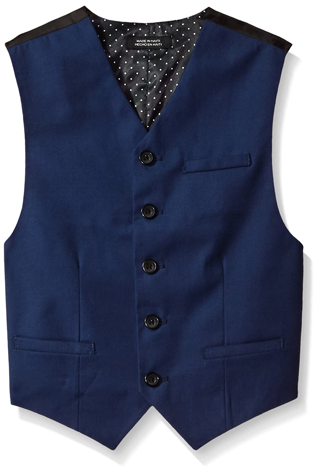 Van Heusen Boys' Big Calendered Gab Wool Blend Vest