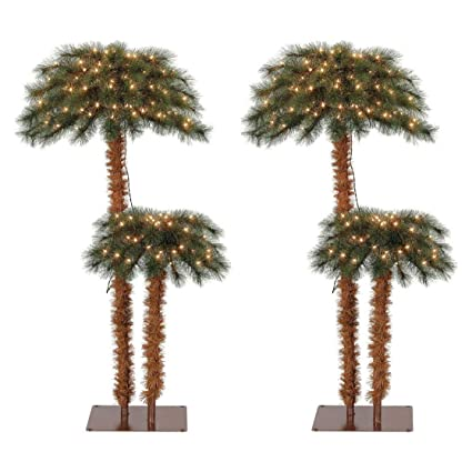 Island Breeze Pre-Lit Artificial Tropical Christmas Palm Tree w/White  Lights (2 - Amazon.com: Island Breeze Pre-Lit Artificial Tropical Christmas Palm