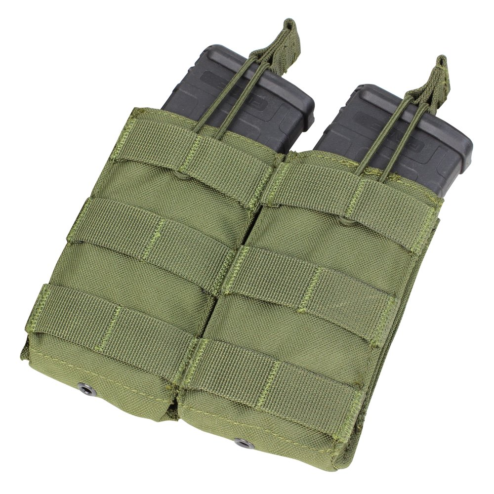 CONDOR Double M4/M16 Open Top Mag Pouch, Olive Drab