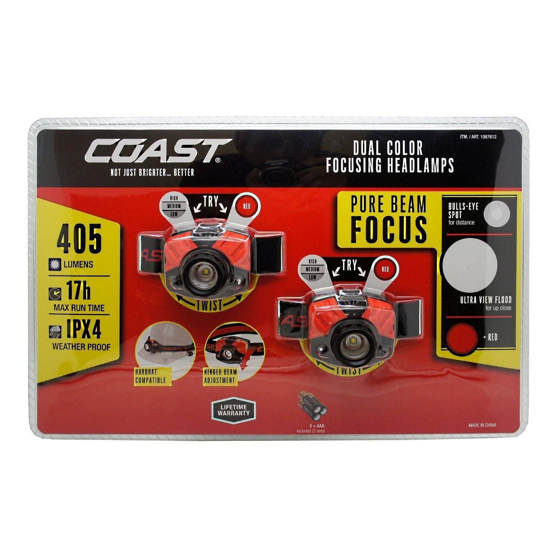 Coast FL72 Focusing 405 Lumen LED 2 Pack