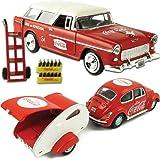 (Set) Coke 1955 Chevy Nomad & 1967 Coca-Cola VW