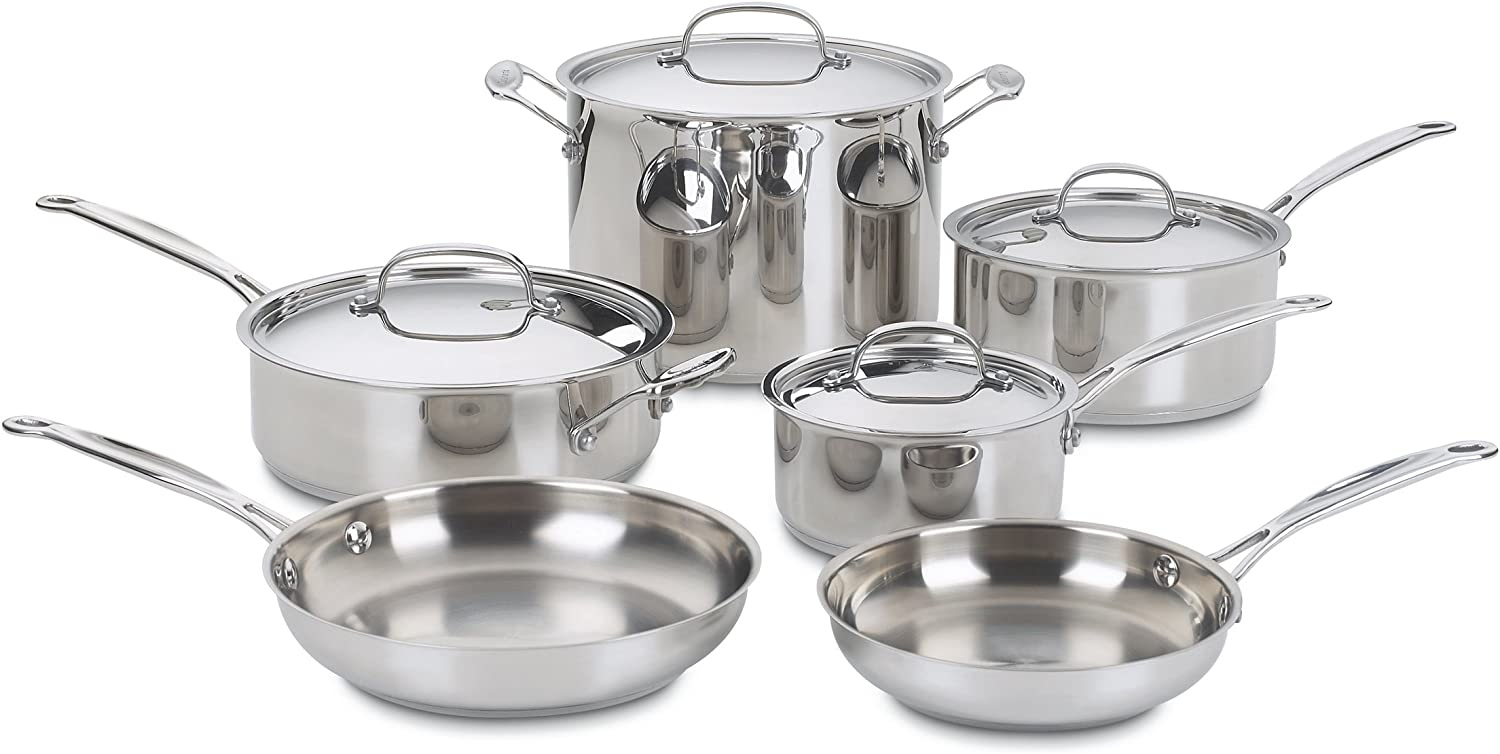 Best affordable stainless steel cookware. Cuisinart Chef's Classic Stainless-Steel Cookware Set — 10 pieces