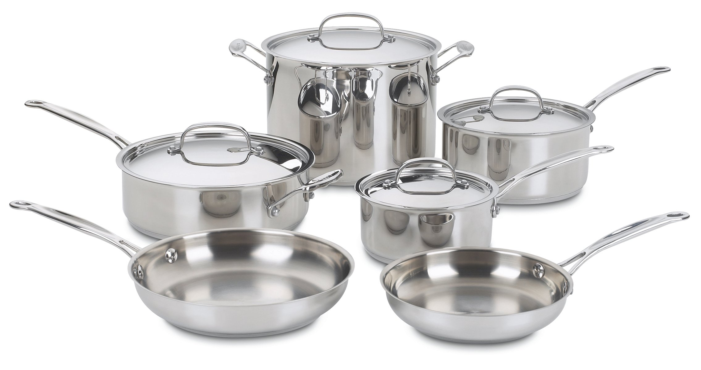 Cuisinart 77-10 Chef's Classic Stainless 10-Piece Cookware Set by Cuisinart (Image #1)
