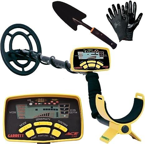 Detector de metales, modelo Garrett Ace 250, profesional, paquete original + regalo: Amazon.es: Deportes y aire libre