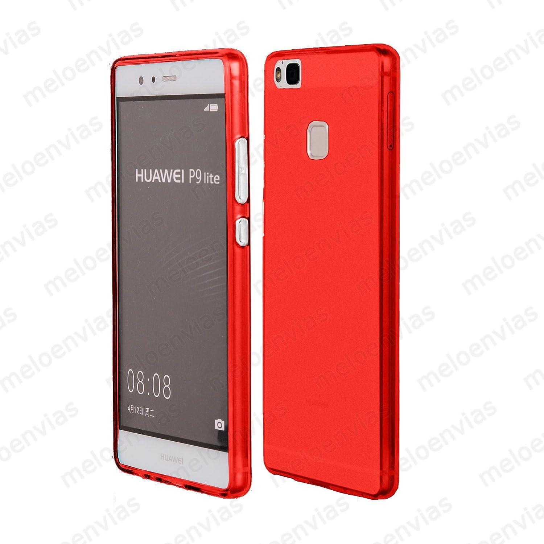 Meloenvias Funda Carcasa para Huawei P9 Lite Gel TPU Liso Mate Color Rojo: Amazon.es: Electrónica