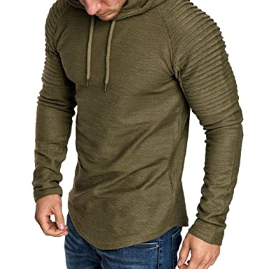 6280e6d1b Rera Men's Slim Fit Hoodie T Shirt Long Sleeve Muscle Tee Shirts Casual T- Shirt