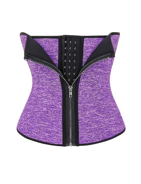 2403ba28a79 FeelinGirl Neoprene Body Shaper Waist Trainer Tummy Fat Burner Sweat Tank  Top Weight Loss Shapewear (