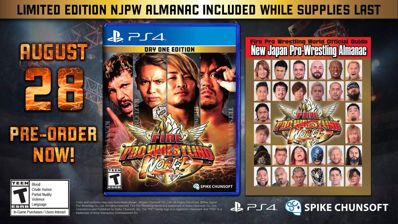 Fire Pro Wrestling World Playstation 4 Fp 03003 2 Games Ps4 Yakuza Kiwami Steelbook Edition Reg All 1 Video Tibs