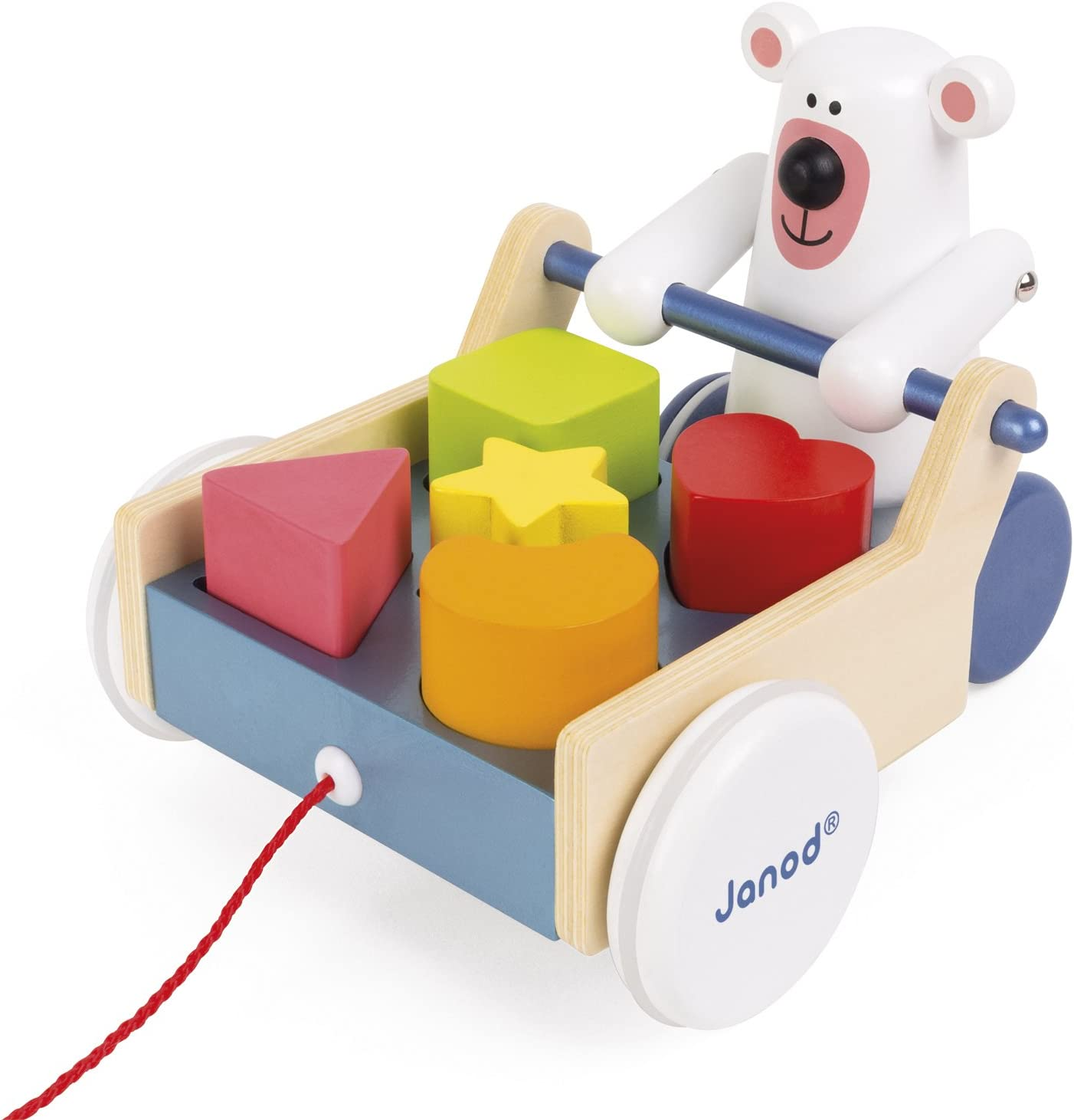 Janod - Caja de formas con oso, zigolos para pasear (Juratoys J08195) , color/modelo surtido: Amazon.es: Juguetes y juegos