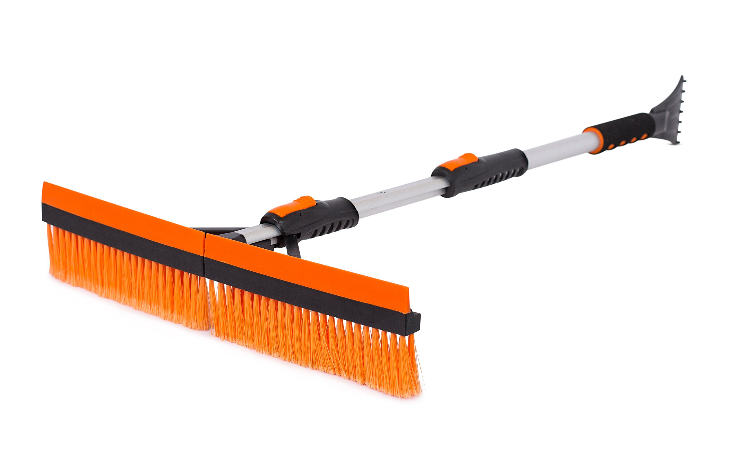 Snow MOOver 46'' Extendable Snow Brush with Squeegee & Ice Scraper - Foam Grip - T-Shape Auto Snow Brush - Auto Ice Scraper - Car Truck SUV by Snow MOOver