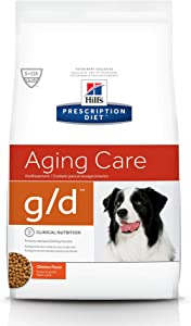 Hill's Prescription Diet g/d Aging Care Chicken Flavor Dry Dog Food, 8.5 lb bag