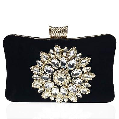 Amazon.com: Bolsas de mujer con cierre de diamante de ...