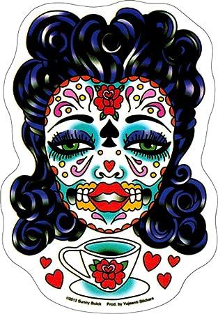 Tea Sugar Skull Lady Decal Sunny Buick Sticker