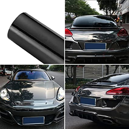 Amazon Com Atmomo Black Car Wrap Vinyl Film Colorful Diy