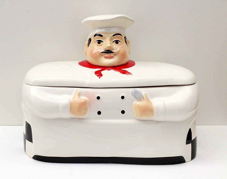 Amazon.com | Fat Chef Breadbox Toast Jar Canister Bistro: Fat Chef ...