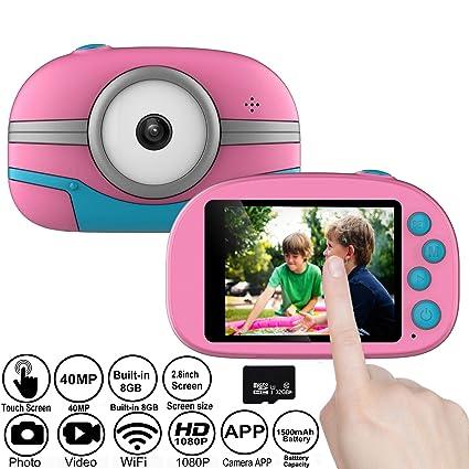 Amazon.com: Gurmoir - Cámara para niños con WiFi táctil ...