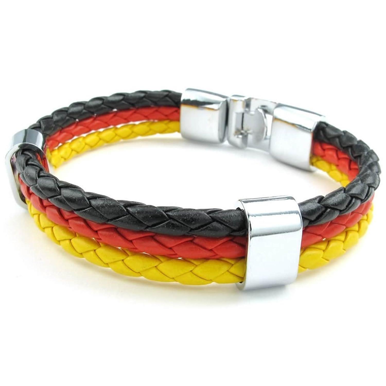 ANAZOZ Stainless Steel Yellow 8 8.5 9 Bracelet Germany Flag Cuff Bangle Black Mens Womens Jewelry