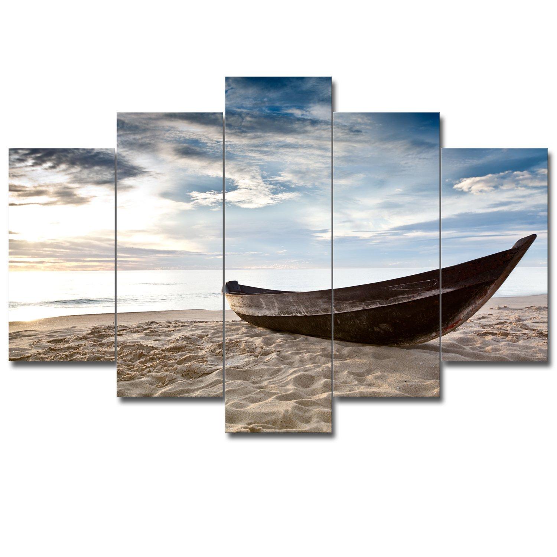 【リブラLibra】 5パネルセット アートパネル インテリアアート 海の景色 キャンバス絵画 (木枠付きの完成品) (L, RA0776) B078VR8BMS Large|RA0776 RA0776 Large