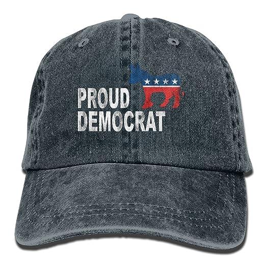 Amazon.com  Wang Proud Democrat Political Classic Cotton Dad Hat ... 8114c480da2