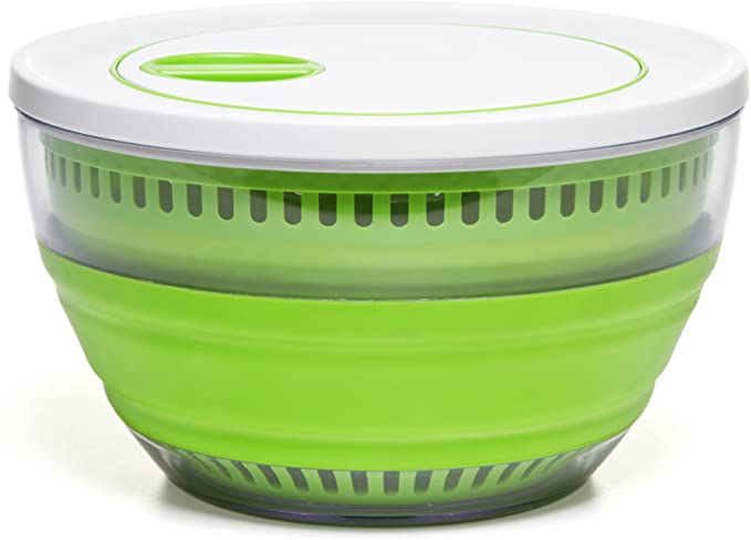 PREP WORKS COLLAPSIBLE SPACE SAVING SALAD SPINNER!