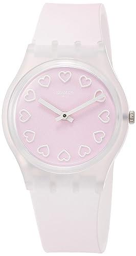 Swatch Reloj Analógico para Mujer de Cuarzo con Correa en Silicona GE273: Amazon.es: Relojes