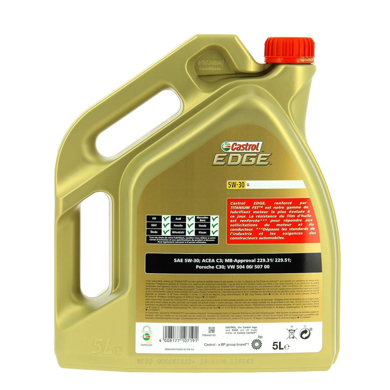 Castrol 1845033 Aceite para Motor Fst 5W-30 Ll, 5L, Marrón: Amazon.es: Coche y moto
