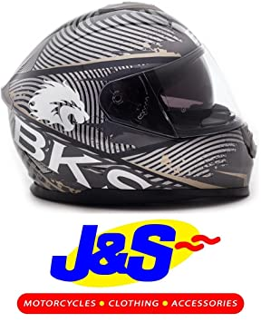 BKS tapa de flujo de moto casco Moto Casco, Racing J & S (gran