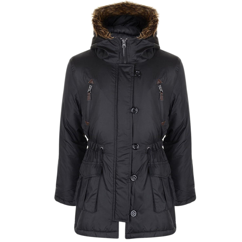 13db71cde96 Amazon.com: a2z4kids Girls Parka Jacket Kids Padded Faux Fur Trim ...