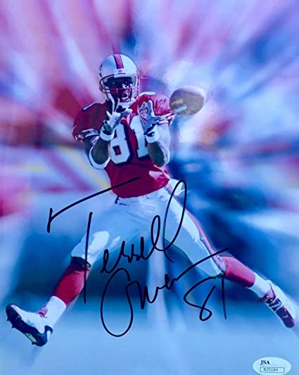 8f4604a56 Image Unavailable. Image not available for. Color  Signed Terrell Owens  Picture - 8x10 - JSA Certified - Autographed ...