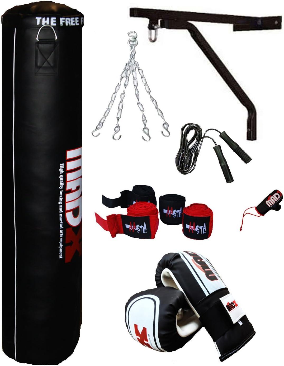 MADX - Juego de saco de boxeo con guantes y accesorios (7 unidades): Amazon.es: Deportes y aire libre