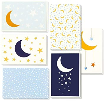 Amazon all occasion greeting cards box set 48 pack greeting all occasion greeting cards box set 48 pack greeting cards 6 moon stars m4hsunfo