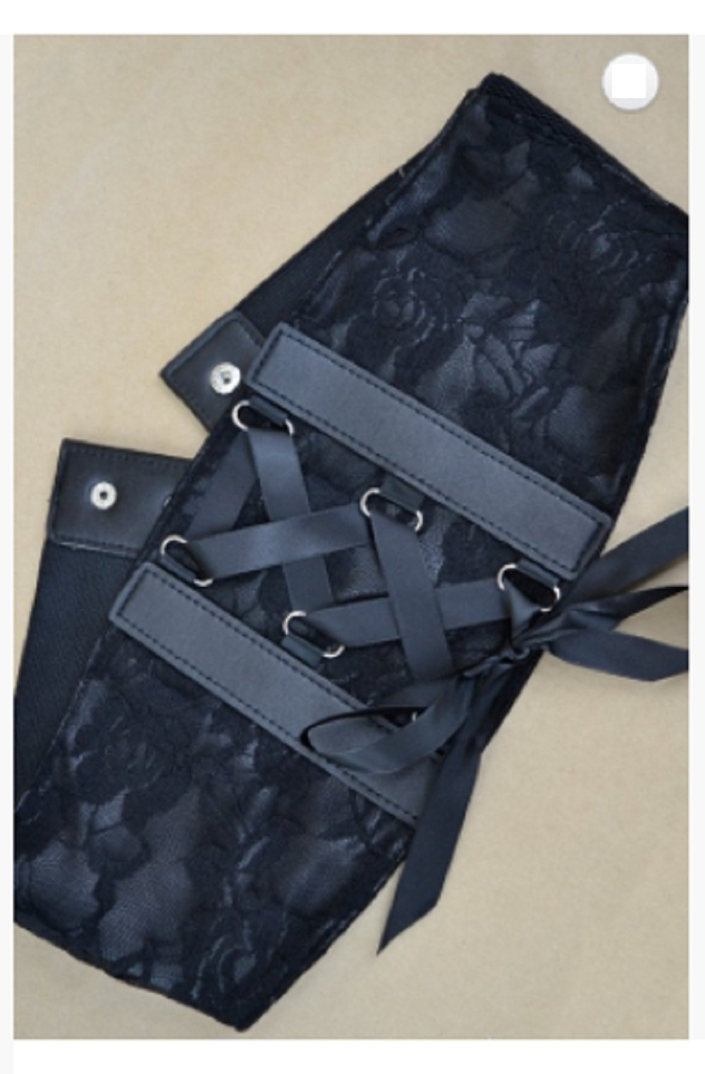 Black Fashion Trendy Lace Corset Wide Elastic Belt (One Size, Black) by Love My Seamless (Image #2)