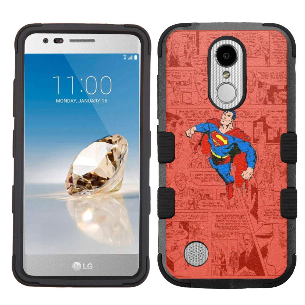 LG Aristo Case,LG Aristo 2 Case,LG Rebel 3 LTE Case,LG Aristo 2 Plus/LG Tribute Dynasty/Zone 4/Fortune 2/Phoenix 3/Rebel 2 LTE/K8+ Plus Case, Rugged Case - Superman #ZCB