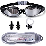Swimming Goggles - Swim Goggles No Leaking, Anti-Fog, UV Protection - Comfortable Fit For Adults, Men, Women, Youth, Kids 10+