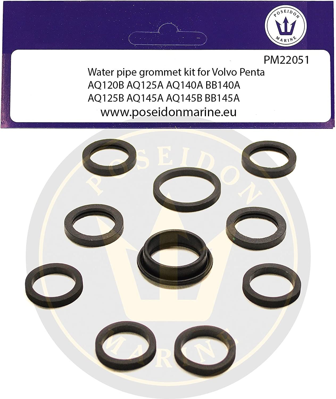 Cooling pipe gasket for Volvo Penta AQ120B AQ125A AQ140A AQ125B AQ145A 18-0377