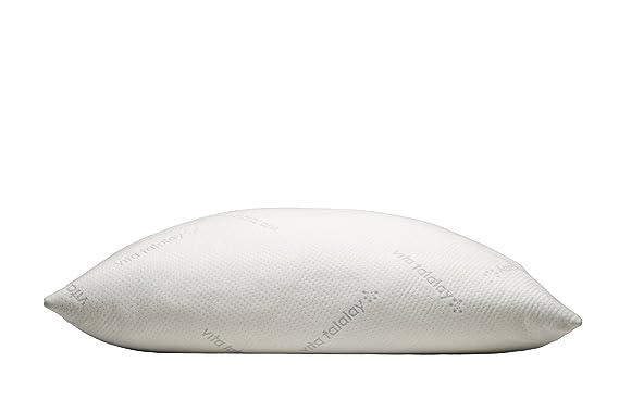 Vita Almohada de látex Talalay - Flex - Almohada de posición de Dormir Cada Lado, Parte Trasera, el Vientre, látex, Blanco, Matrimonio: Amazon.es: Hogar